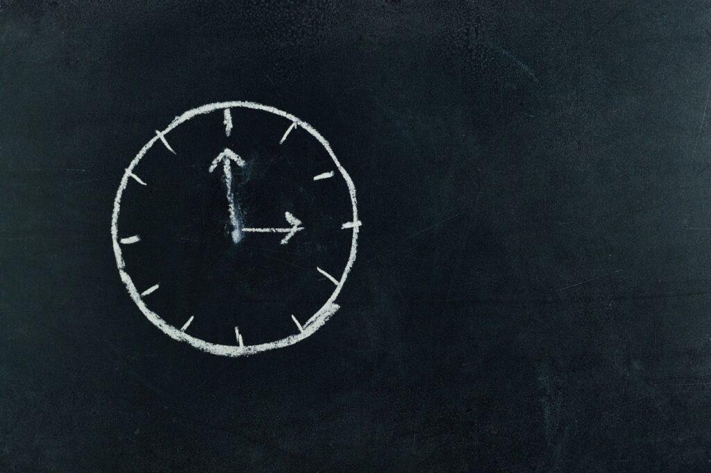 Zegar pokazujący czas trwania